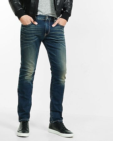 Slim Fit Slim Leg Performance Stretch Jeans | Express