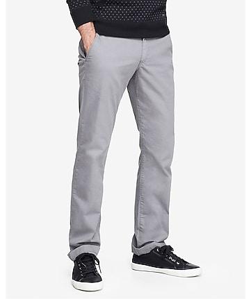 slim fit light gray chino pant