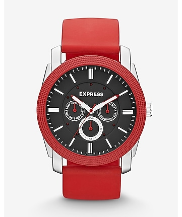 rivington multi-function watch - red