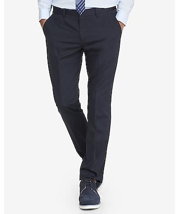 360ac1028dc8 slim navy cotton dress pant