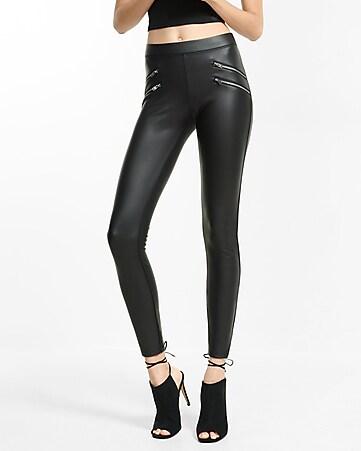 black mid rise extreme stretch jean legging