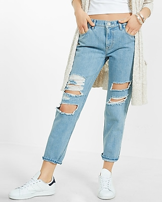 Distressed Girlfriend Jeans | Express