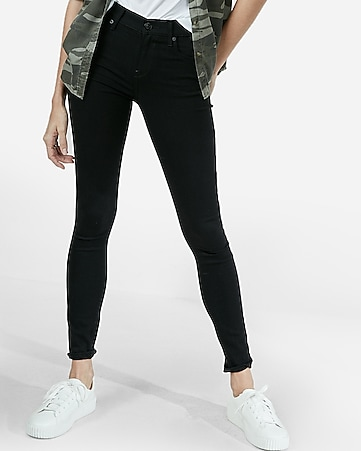 712e7042a27 Express View · mid rise black jean leggings