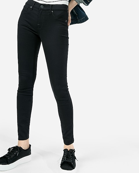 da15b8e30f831 Mid Rise Black Jean Leggings | Express