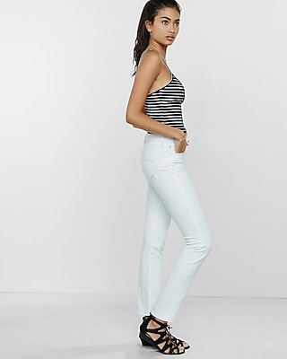 White Mid Rise Skinny Jeans | Express