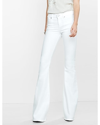 white flare jeans for women - Jean Yu Beauty
