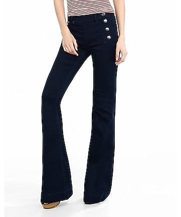 Mid Rise Sailor Bell Flare Pant | Express