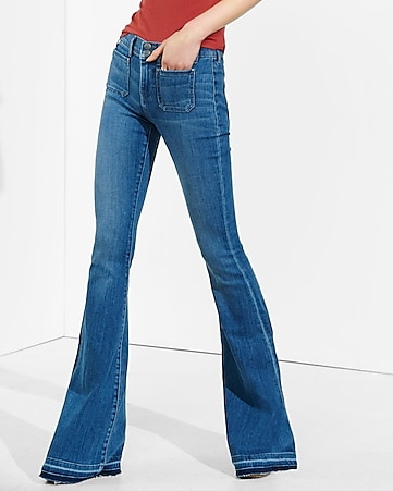 Mid Rise Released Hem Bell Flare Jean | Express