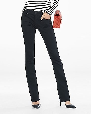 low rise black barely boot jeans