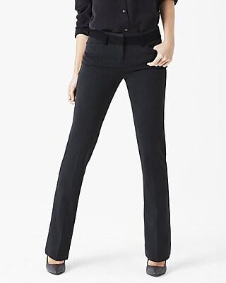 Womens black dress pants straight leg